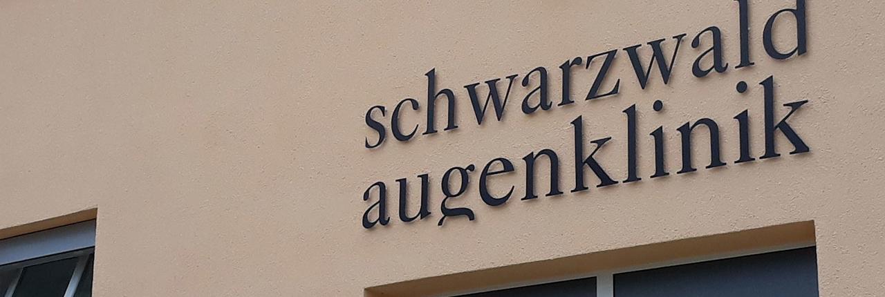Schwarzwald Augenklinik Beschriftung
